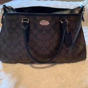 Brown/Black Coach Bag